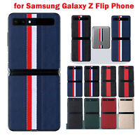 Phone Protect Back Cover Funda plegable Para Samsung Galaxy Z Flip Moda Leather