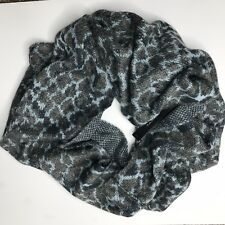 Tahari Womens Animal Pattern Infinity Scarf Gray Blue One Size