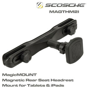Scosche MagicMount Headrest Mount Magnetic Mount for Tablets & iPads X-L