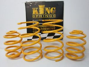 Lowered Front and Rear KING Springs suits 05-11 Holden Barina TK TL Models