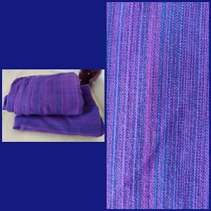 "Vintage Rufflette Brand purple blue pair curtains L57"" W92"" mid century"