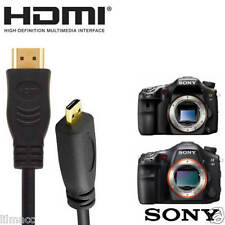 Sony A58K, A99V, A58Y Camera HDMI Micro TV Monitor 2m Gold Wire Lead Cord Cable