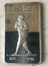 Rare Babe Ruth .999 Fine Silver Art Bar by Manhattan Private Mint - Folk Heroes