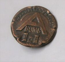 WW2 MANHATTAN PROJECT A BOMB WORKERS BRONZE PIN NM