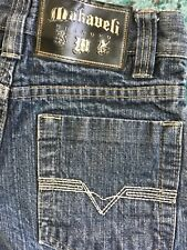 Makaveli Brande 6 Jeans Shorts Denim Stretch Metal Rivets Cotton Youth Blue