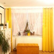 White Net Curtain with guipure Ready Made Bedroom Living Room New 400x150