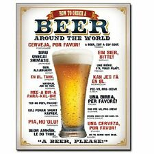 """How to Order a Beer 12"""" x 16"""" Metal Sign NEW USA SHIPPER"""