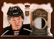 2013/14 TYLER TOFFOLI CROWN ROYALE HEIRS TO THE THRONE PATCH ROOKIE RC /25