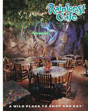 Rainforest Cafe Restaurants Multiple Locations USA Postcard 1996