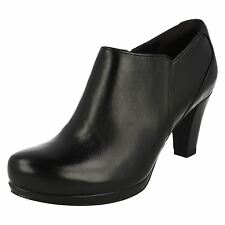 Clarks Zip High Heel (3-4.5 in.) Block Boots for Women