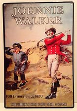 "Johnnie Walker WHISKY Golfer Retro Style Metal Sign pub wall garage decor 12""X8"""