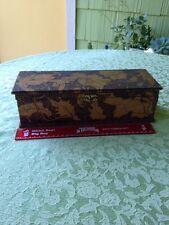 Vintage.. ...Wood.. Burnt... Flemish  Art..... Dresser.... Box
