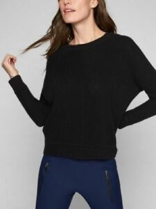 ATHLETA Wool Cashmere Habitat Sweater, NWOT, Size Small, Black, MSRP $148