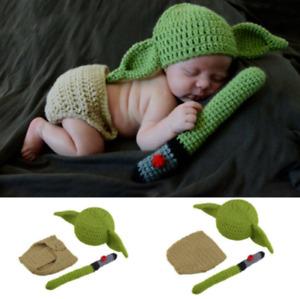Cute baby photography suit newborn knitting crochet photo props costume