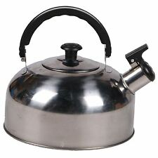 Stainless Steel 2l Stove Top Camping Fishing Cordless Gas Whistling Kettle Pot