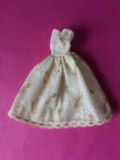 Faerie Glen ball gown evening dress gold bows fit Sindy Barbie dolls SHIMMYSHIM