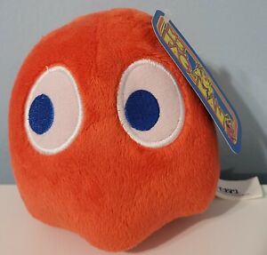 """Ms. Pacman 4"""" Blinky Red Ghost Plush Doll Bandai Nanco Toy Factory NWT"""