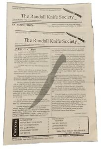Randall Knife Society Newsletters Issue 33 February 1997 & Issue 34 May 1997