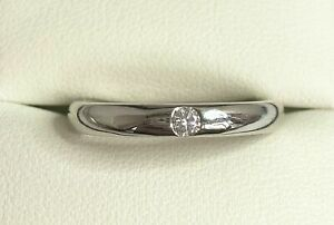 Solitaire Natural Diamond Band Style Ring 0.10 Ct Solid 14K White Gold Certified
