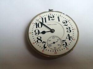 Hamilton pocket watch movement 16s 21jewels