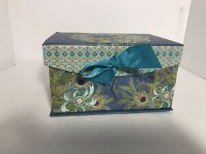 Nicole Tamarin Jewelry Peacock Storage Keepsake Box