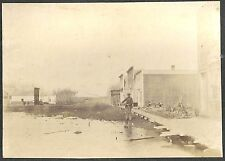 Photo of a Man Fishing in the Street at Thief River Falls, Minnesota c1900