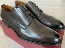 750$ Bally Brier 03 Dark Gray Laces Up Shoes Size US 10.5 Made in Switzerland