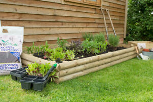 Wooden Timber Raised Planter Flower Bed Pack