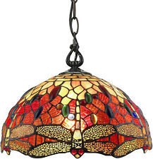 Stained Glass Hanging Lamp Tiffany Style Ceiling Light Fixtures--GORGEOUS