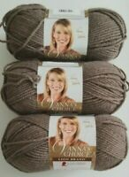 Lion Brand VANNA'S CHOICE Yarn ~ Taupe ~ Lot of *3* New Skeins (Discontinued)