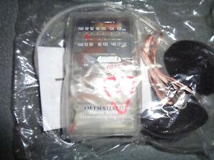 Jensen AM/FM JAIL - PRISON Portable Radio w/ Headphones Clear, See-Thru Case NEW