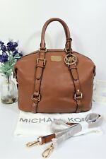 "MICHAEL KORS ""Bedford"" Crossbody Shoulder Grab Bag Medium Tan Leather ~ RRP $368"