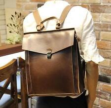 2016 Men Travel Leather backpack rucksack Briefcase Laptop Messenger Handbag Bag