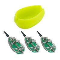 3pcs Inline Method Carp Fishing Feeders Mould Bait Basket Set 30g+40g+50g