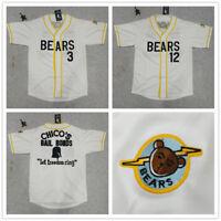 Bad News Bears Chico's Bail Bonds Kelly Leak Tanner Boyle #3 #12 Baseball Jersey