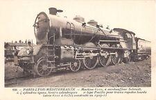 CPA THEME TRAIN PARIS LYON MEDITERRANEE MACHINE N°6102