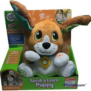LeapFrog Interactive Speak & Learn Puppy With Talk-Back Soft Plush Pup 12 Month+