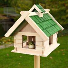 Vogelhaus Weiß Vogelfutterhaus aus Holz Vogelvilla Vögel Ständer