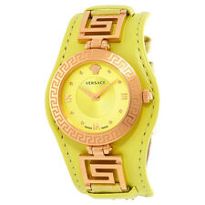 Versace V Signature Green Dial Ladies Watch VLA070014