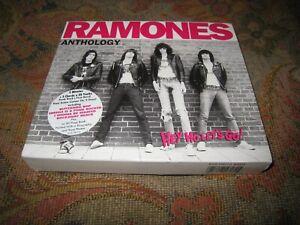 THE RAMONES ANTHOLOGY USED 1999 TWO DISC PUNK ROCK UK CD ALBUM BOX SET.