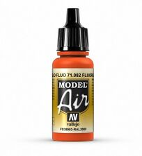 VALLEJO AIRBRUSH PAINT - MODEL AIR - FLUORESCENT RED 17ML - 71.082