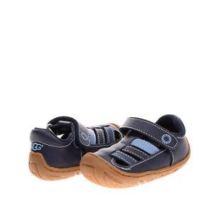 UGG AUSTRALIA Kids Fisherman Shoes EU 20.5 UK 3 US 4 Stitched Cut Out Round Toe