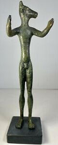 "Bronze Minotaur Lost Wax Handmade in Greece 11""  Musee du Louvre"