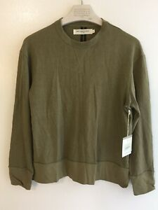 """MR COMPLETELY """"MADE IN USA"""" Double Up Sweatshirt BROWN GREEN US MEN SMALL"""