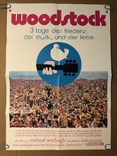 Woodstock German Original Vintage Poster Movie Theater Promo Pin-up 1970's WB