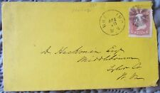 HAND POSTMARKED WHEELING, W. VA, COVER TO MIDDLEBOURNE, 1868, WITH SCOTT #94