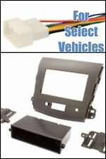 07-13 Mitsubishi Outlander Single+Double Din Car Radio Dash Install Kit + Wire
