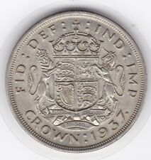Sharp  1937   King  George  VI   Large  Crown / Five Shilling  Coin