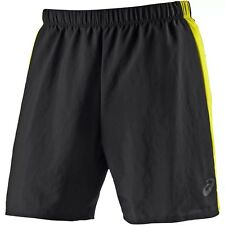 Men's New ASICS Lightweight Running Shorts - Fitness Sports Gym Jogging - Black