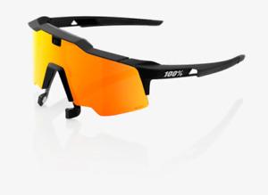 100% Speedcraft Air Soft Tact Black Sunglasses, HiPER Red Multilayer Mirror